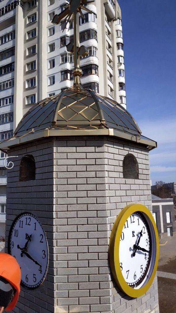 Часы башенные фасадные минск цена установка фото